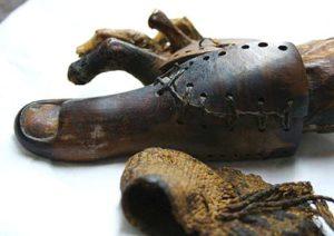 Prótesis en un dedo egipcio.