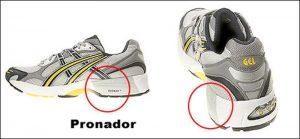 calzado con control de la pronación