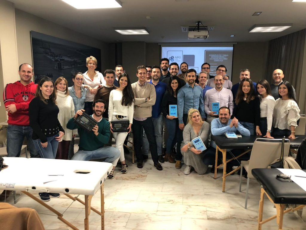Foto grupal del curso de intervencionismo ecoguiado en Málaga.